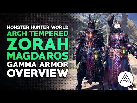 Monster Hunter World   Arch Tempered Zorah Magdaros Gamma Armor Set Overview