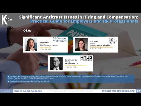 Antitrust Issues in Hiring and Compensation