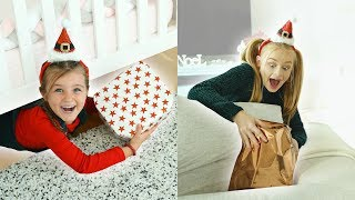 HIDE and SEEK CHRISTMAS PRESENTS challenge! Mia VS Sienna
