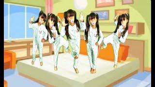 JULIA FOI CLONADA Five little babies jumping on the bed song, colors-5 bebezinhos pulando no colchão