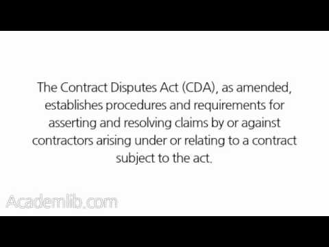 What is the Contract Disputes Act of 1978?