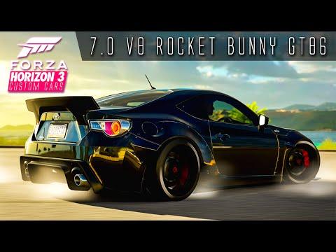 1014HP 7.0 LITRE V8 ROCKET BUNNY GT86 DRIFT BUILD!!! | Forza Horizon 3 Custom Cars #3