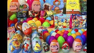 Киндер Сюрпризы,Unboxing Kinder Surprise Eggs Мега Сборник Minions,Angry Birds,Transformers,Cars