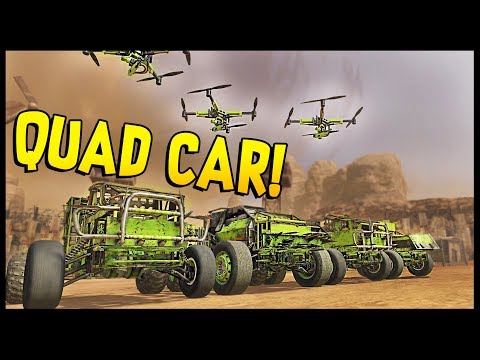 Crossout - QUAD CAR! 4 CARS IN ONE - Triple Attack Drone Build - Crossout Gameplay
