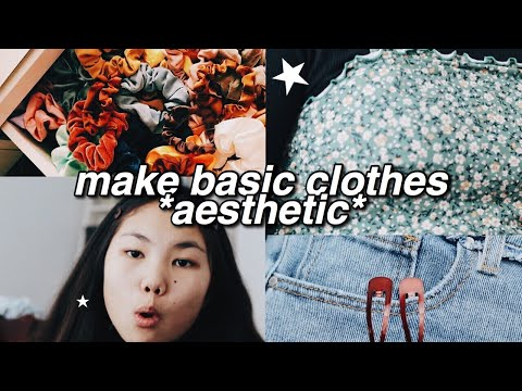 how to make basic clothes AESTHETIC - styling tips