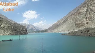 Beautiful Attabad Lake In Gilgit Baltistan Pakistan.
