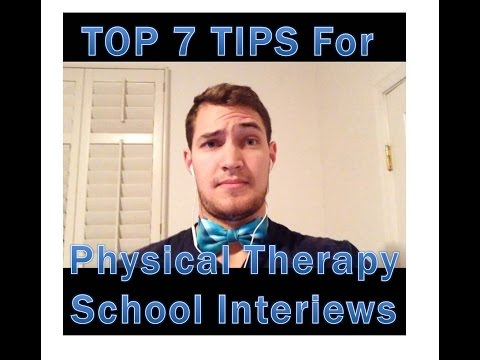 Interview Tips for Physical Therapy School