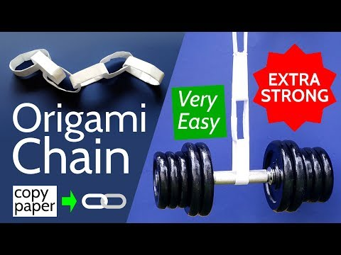 Origami Chain - Make a Very Strong DIY Paper Chain with only Copy Paper, no Glue and no Tape