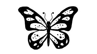 butterfly simple sketch drawing easy draw quick drawings sketches paintingvalley teens