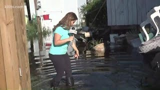 Flooded areas in Rockport