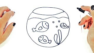 How to draw a Fishbowl | Fishbowl Easy Draw Tutorial