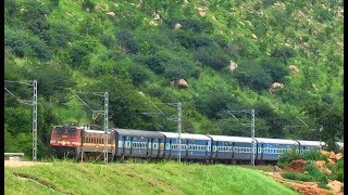 Prasanthi Express with WAP4's - Indian Railways ( Different date & Location )