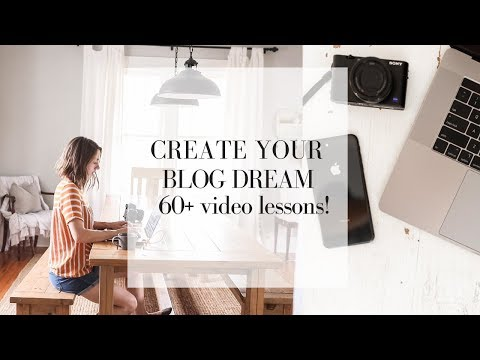 How to start a blog course now available! | CREATE YOUR BLOG DREAM