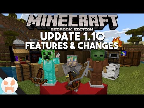 SHIELDS, CROSSBOWS, NEW BLOCKS, & MORE!   Minecraft Bedrock 1.10 Features & Changes