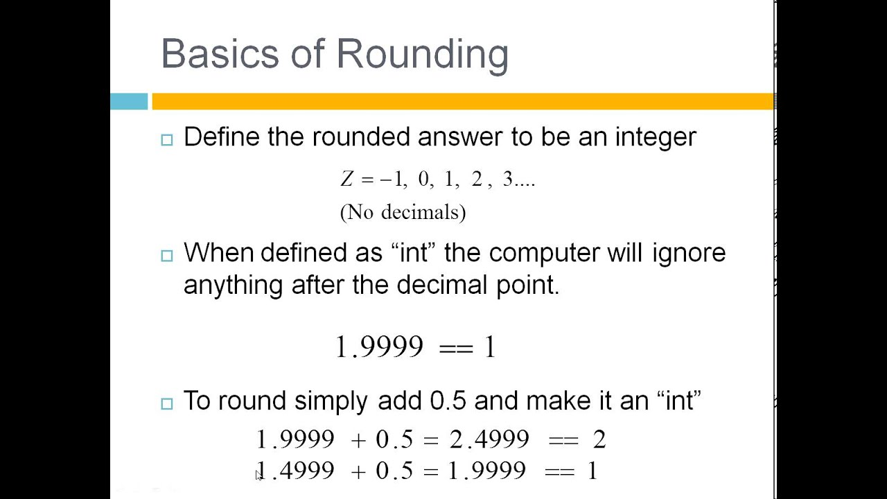 worksheet Rounding Integer Numbers how to round numbers in c youtube c
