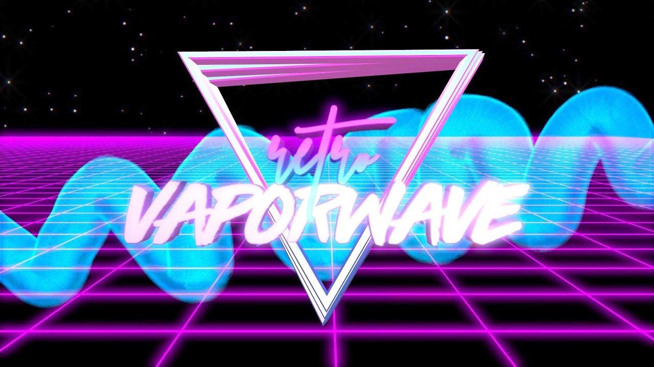 retro vaporwave intro template no text youtube