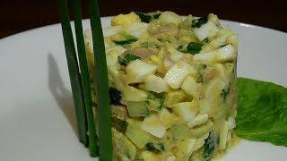 Быстрый и вкусный салат без майонеза.