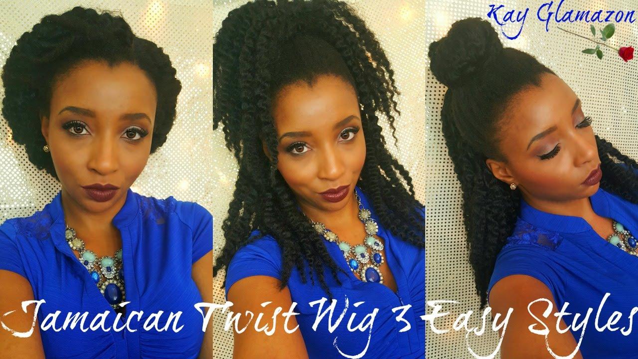 🌴 model model jamaican twist wig | 3 easy styles in less then 3