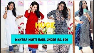 KURTI HAUL FROM MYNTRA INDEPENDENCE SALE || RAKHI SINGH