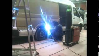 how to changing mercedes sprinter side panels ;by samson