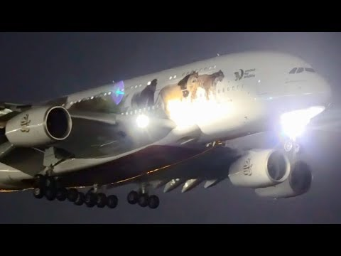 10 BIG PLANES Landing LATE AT NIGHT   Melbourne Airport Plane Spotting