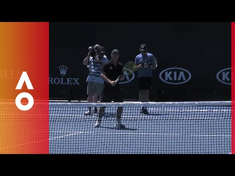 The kids show Lleyton Hewitt how it's done   Australian Open 2018