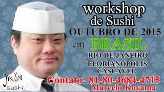 Workshop de Sushi em Gunma Ken Japao 26/01/2015