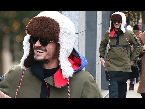 orlando-bloom-wraps-up-in-a-khaki-jacket-and-fur-trapper-hat-as-he-joins-guests-at-dasha-zhukova-and