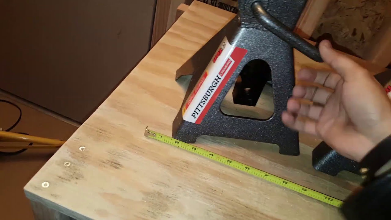 Jack Stands Pittsburgh 3 Ton From Harbor Freight Youtube