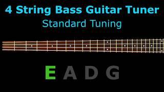 4 string bass guitar tuner - standard tuning