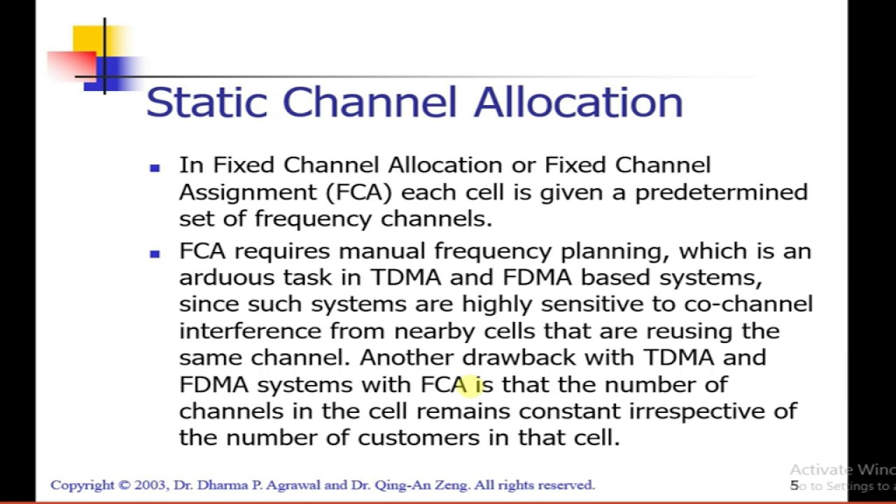 thesis dynamic channel allocation The allocation of a single uplink multiacccess fading channel is studied as well with multiple parallel fading channels, a mac protocol based on pricing is proposed to allocate network resource according to users' demand.