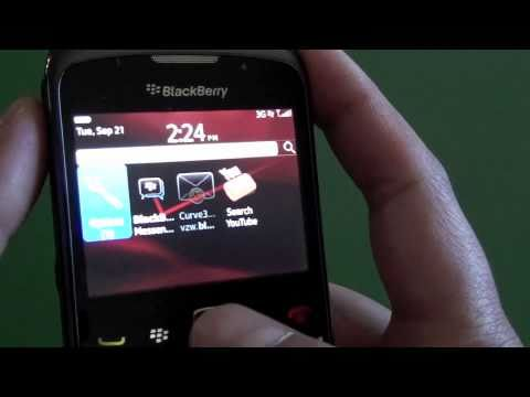 Verizon BlackBerry Curve 3G 9330 running OS 6