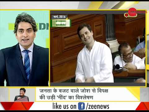 Watch Daily News and Analysis with Sudhir Chaudhary, Budget Special