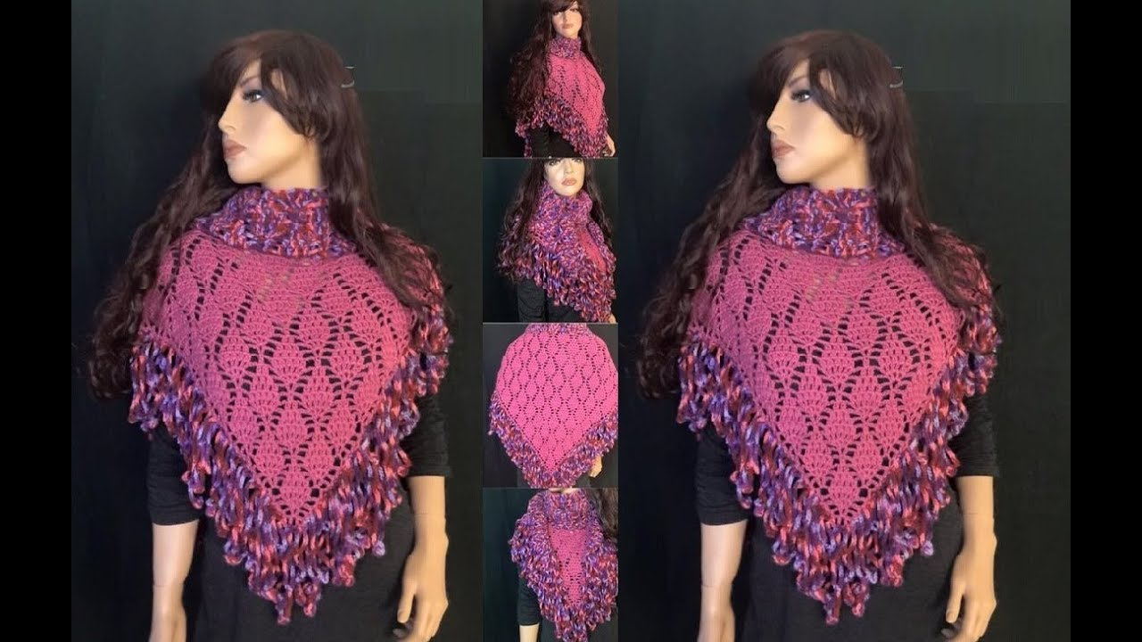 Crochet Shawl Patterns Youtube : ... to Crochet a Triangle Shawl Pattern #26?by ThePatterfamily - YouTube