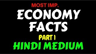 Most Important Indian Economy Facts ( Hindi Medium ) Part 1