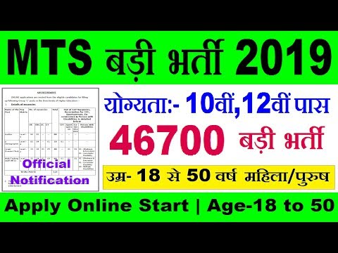 MTS Recruitment 2019 | Latest Govt Jobs | Sarkari Naukri | Rojgar Samachar | Government Jobs