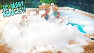WE PUT OVER 1 MILLION BUBBLES IN OUR NEW SWIMMING POOL!!