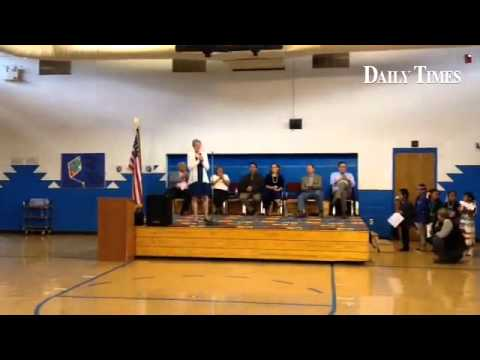 Crystal Boarding School student asks U.S. Interior Secretary Sally Jewell a question