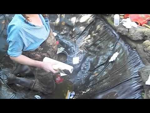 1333 pond liner repair part four carls aquarium youtube for Pond liner repair