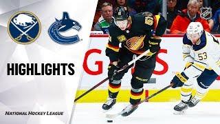 NHL Highlights   Sabres @ Canucks 12/07/19