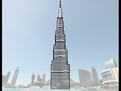 تعلم رسم برج خليفة تعلم الرسم