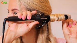 як зробити красиві кучері на середні волосся плойкою