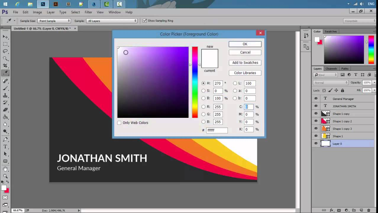 Make A Business Card In Photoshop - YouTube