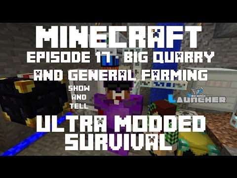 Ep 17 - Felling Turtle, General Farming, ME Crafting table - Ultra Modded Survival