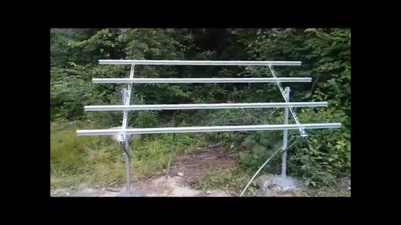 Ground Mount Solar Panel Diy Youtube