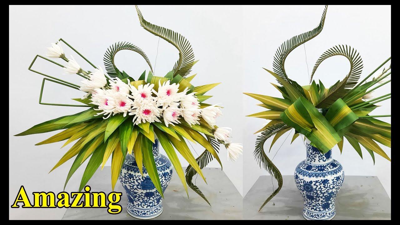 Cắm hoa Cúc trắng để bàn thờ | Hướng dẫn cắm hoa đẹp