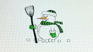 Простые рисунки #162. Как нарисовать снеговика красавчика=)(Все все рисунки с моего канала https://www.youtube.com/user/MsSimpleDrawings/videos Рекомендую посмотреть: ❤ Простые рисунки..., 2014-12-15T13:14:05.000Z)