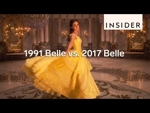 How Emma Watson's Belle compares to the original