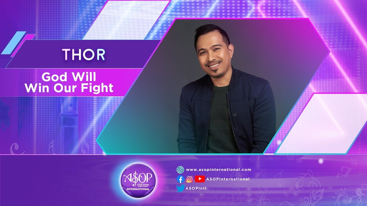 """Thor sings """"God Will Win Our Fight"""" by Ricardo Sanchez 