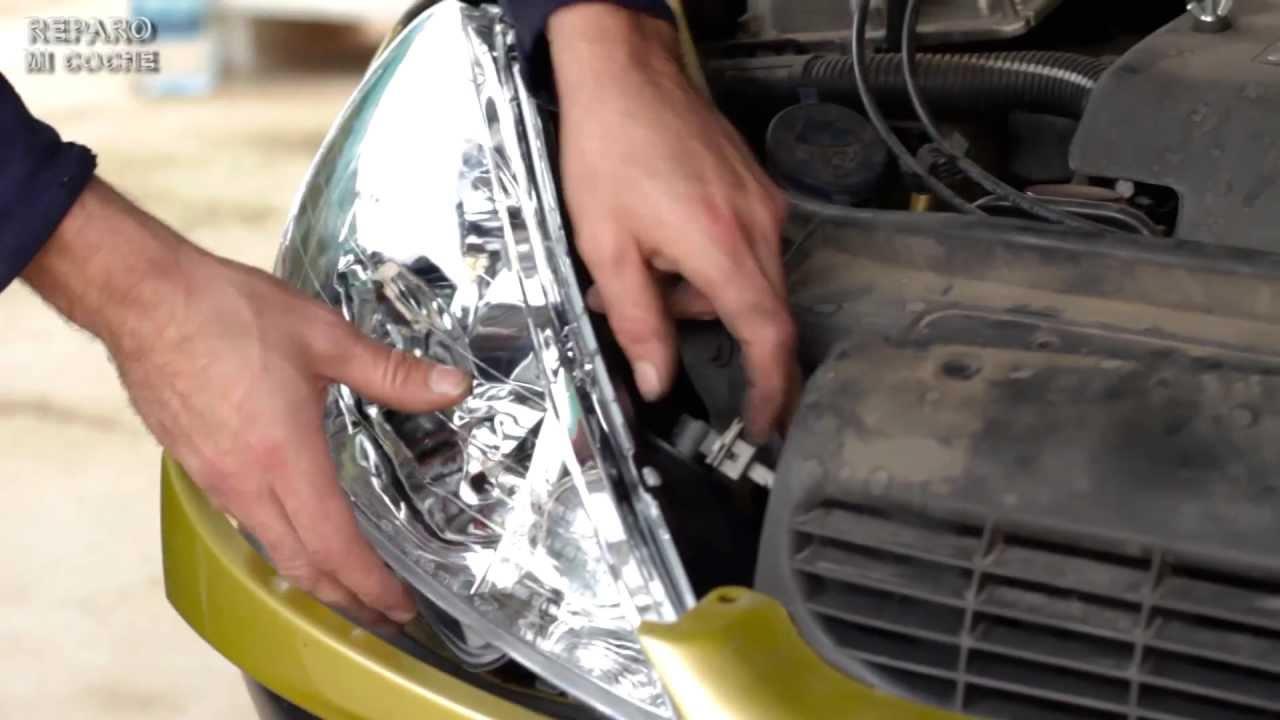 C mo cambiar el faro de un coche youtube - Como pulir faros de coche ...